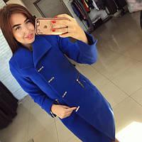 Кашемировое женское короткое пальто