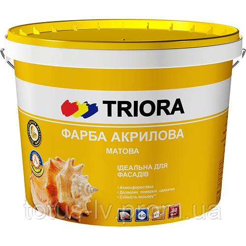 Краска акриловая фасадная ТМ «TRIORA»