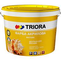 Краска для шифера акриловая ТМ «TRIORA»,красно-коричневая, 10 л