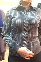 Блузка женская в полоску серая Р28