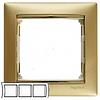Рамка 3 поста матовое золото Legrand Valena 770303