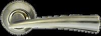 Ручка на раздельной розе Columba LD80-1AB/SG-6 бронза/матовое золото Armadillo (Китай)