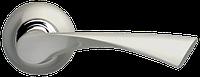 Ручка на раздельной розе Corona LD23-1SN/CP-3 матовый никель/хром Armadillo (Китай)