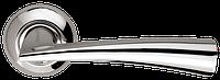 Ручка на раздельной розе Columba LD80-1SN/CP-3 матовый никель/хром Armadillo (Китай)