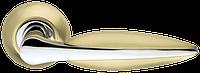 Ручка на раздельной розе Lacerta LD58-1SG/GP-4 матовое золото/хром Armadillo (Китай)