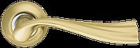 Ручка на раздельной розе Laguna LD85-1SG/CP-1 матовое золото/хром Armadillo (Китай)