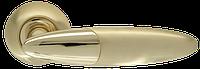 Ручка на раздельной розе Sfera LD55-1SG/GP-4 матовое золото/золото Armadillo (Китай)