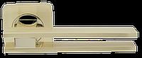 Ручка на раздельной розе Bristol SQ006-21SG/GP-4 матовое золото/золото Armadillo (Китай)