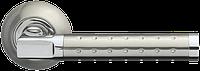 Ручка на раздельной розе Eridan LD37-1SN/CP-3 матовый никель/хром Armadillo (Китай)