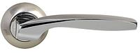 Дверная ручка на раздельной розе Arona CM 185 никель/матовый никель Comit