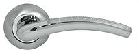 Дверная ручка на раздельной розе Milla CM 135 хром/матовый никель Comit