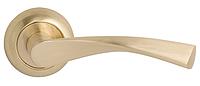 Дверная ручка на раздельной розе Vela CM 170 R59 полированная латунь/матовая латунь Comit (Китай)