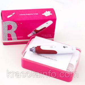 Дермапен с аккумулятором, Дермаштамп,  5-ти скоростной + 3 насадки и гиалуронка в подарок