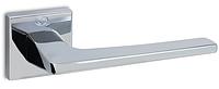 Дверная ручка на раздельной квадратной розе 1495 полированный хром Convex (Греция)
