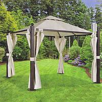 Павильон садовый со шторами 2407