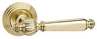 Дверная ручка на раздельной розе Michelle полированная латунь Fimet (Италия)