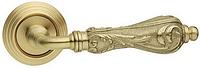 Дверная ручка на раздельной розе Flora матовое золото фарфор Fimet (Италия)