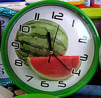 "Часы настенные для кухни ""Арбуз"""
