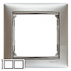Рамка 2 поста алюминий матовый Legrand Valena 770332