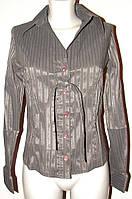 Блузка женская в полоску с поясом Р27