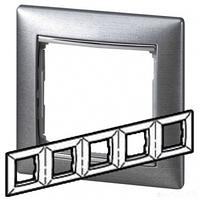 Рамка 5 постов алюминий матовый Legrand Valena 770335