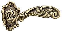 Дверная ручка на раздельной розе Helen SBR матовая бронза Poggi & Mariani (Италия)