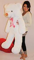 Белый плюшевый мишка 120 см
