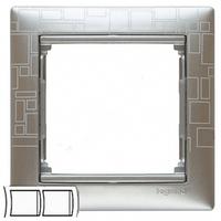 Рамка 2 поста алюминий модерн Legrand Valena 770342