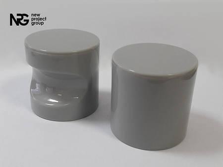 Ручка пластиковая накладная BASE (серая)