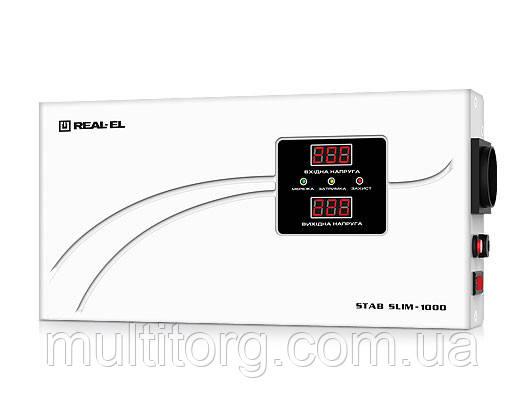 Стабілізатор напруги REAL-EL STAB SLIM-1000 LCD (уцінка)