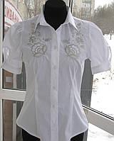 "Вышитая женская рубашка ""Петриківський розпис"" с коротким рукавом (арт. CK3-158.0.0)"