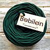 Трикотажная пряжа Bobilon, цвет 32 темно-зеленый