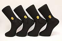 Мужские носки высокие с хлопка,усиленные пятка и носок Milano GOLD №30 41-44 черный