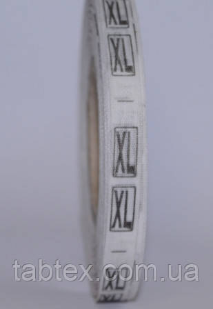 Размерник № XL (720шт) для одежды накатка