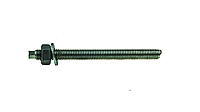Анкерная шпилька VA-A 12х135 с гайкой, шайбой, насадкой под дрель, упак - 10 шт, Швеция