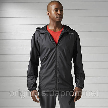 Спортивная куртка Reebok мужская Workout Ready Woven BK3111, фото 2 bc97e811838