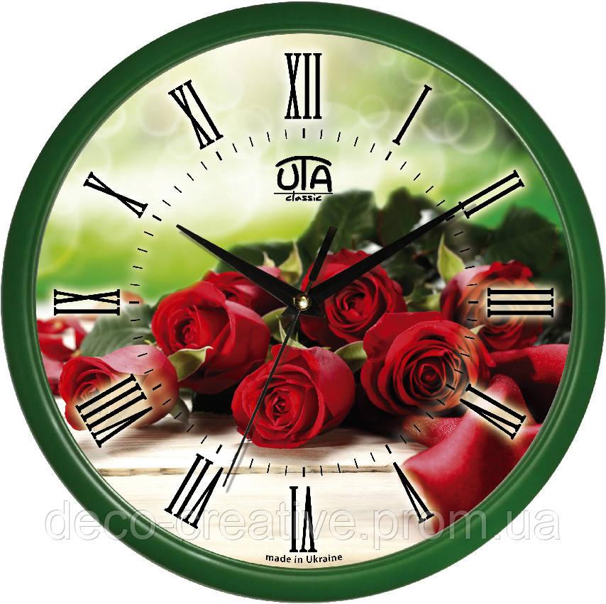 """Годинник настінний ЮТА """"Классика"""" 300Х300Х45мм            01 GR 45"""