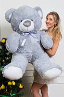 Мишка плюшевый Барни серого цвета 150 см