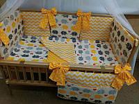 """Постельное бельё в кроватку бортики подушки в кроватку новорожденного- """"Сладкий сон"""" 7 ед."""