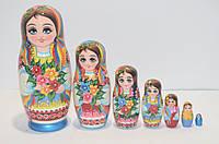 Украинская расписная матрёшка из 7-ми штук маленькая 712