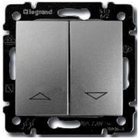 Механизм управления жалюзи 2-клавишного с механической блокировкой алюминий Legrand Valena 770104