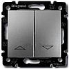 Механизм управления жалюзи 2-клавишного с электронной блокировкой алюминий Legrand Valena 770114