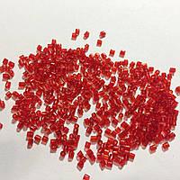 Бисер рубка японский Матсуно Япония. Бісер  MATSUNO Японія 11/ 2 CUT 100 грам, №7, червоний