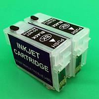Комплект перезаправляемых картриджей OEM Epson (T1361+T1361) K101 K201 K301 BK