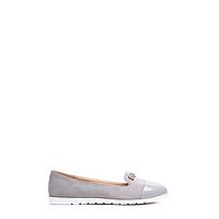 Туфли женские замшевые на плоской подошве 7110-5 GREY