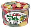 Желейные конфеты Кислые Огурчики  Харибо Haribo 1000гр 150 шт