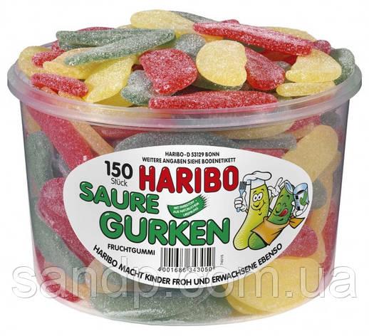 Желейные конфеты Кислые Огурчики  Харибо Haribo 1000гр 150 шт, фото 2