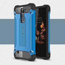 Чехол накладка для LG Escape 3 K373 противоударный Spider, голубой