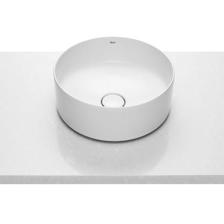INSPIRA Round раковина 370*370*140мм, накладная, круглая, без отв под смесмитель, без перелива