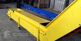 Рама выполнена из мощной стали. Стойки оснащены роликами, которые позволяют легко перемещать конвейер.
